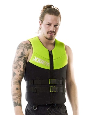 neoprene vest men lime green.jpg